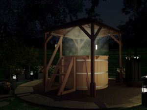 Hot Tub with gazebo in the garden