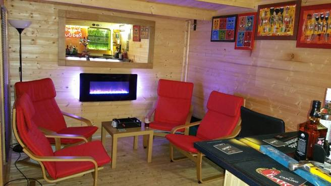 Customer Reviews: PremiumPlus Severn Log Cabin with chairs and fireplace