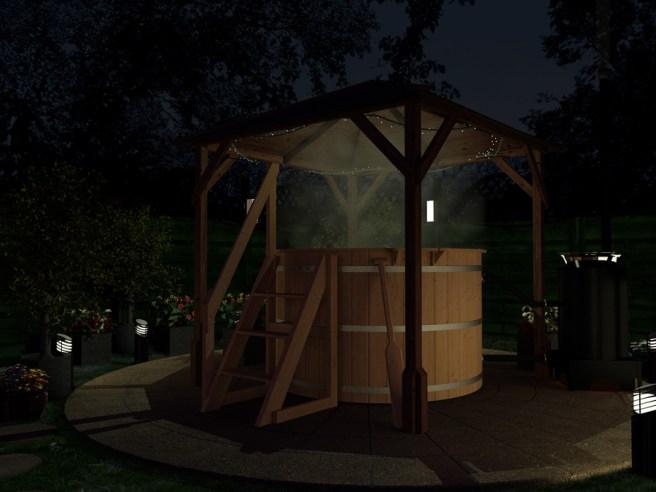 Hot tub with Utopia Gazebo Dunster House