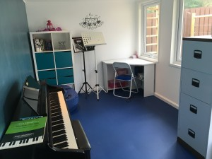 Lienne Garden Office designed as a music room