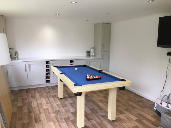 Garden Office with pool table