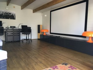 Man Cave from Dunster House furnished as a cinema