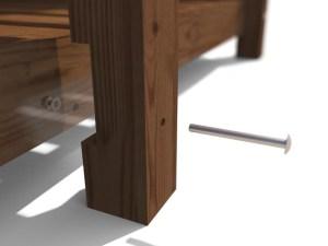 Large Log Store - leg close up