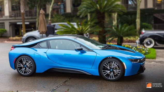 2014 03 Amelia Concours Day 0 - 21 BWM I8 Coupe Blue