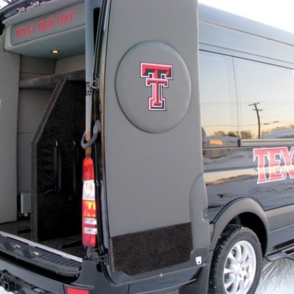 Texas Tech Golf Sprinter Van