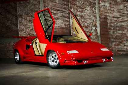 impeccable red 1989 lamborghini countach for sale. Black Bedroom Furniture Sets. Home Design Ideas