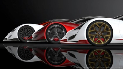 The SRT Tomahawk Vision Gran Turismo is available in three powerful versions – S, GTS-R and X – offering increasing levels of performance and technology. After completing the challenges, players will find the entry level SRT Tomahawk Vision Gran Turismo S, the racing version GTS-R and the experimental technology ultimate version X concept vehicles in the game's SRT garage.