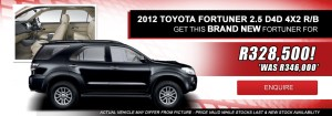 Fortuner 2.5 D-4D 4X2 Special