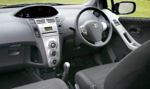 The innovative Yaris dash & interior