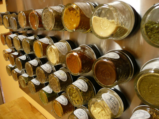 decorating with a spice rack