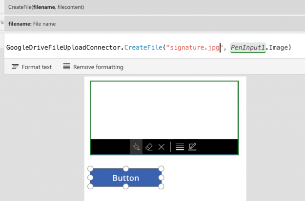 Sample PowerApps