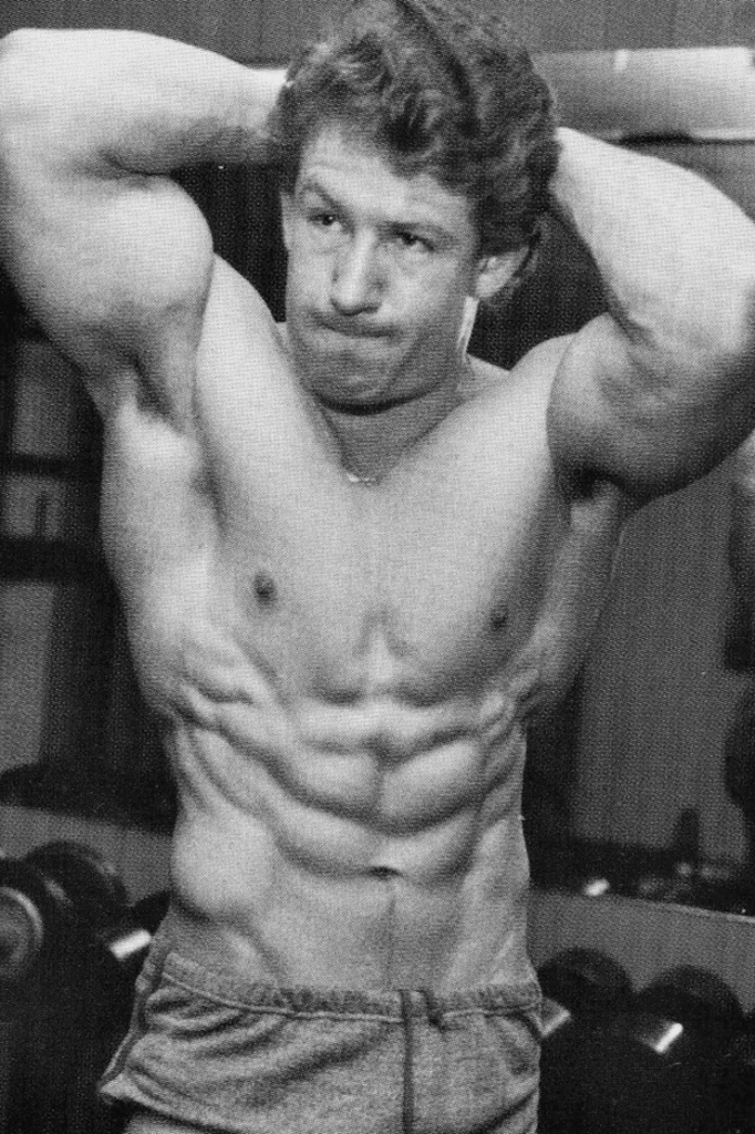 In this picture you can see Dorian Yates in his early years. Whey protein was a secret.