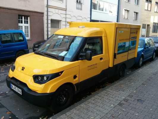 Das erste mal im freien Straßenverkehr in Aachen.