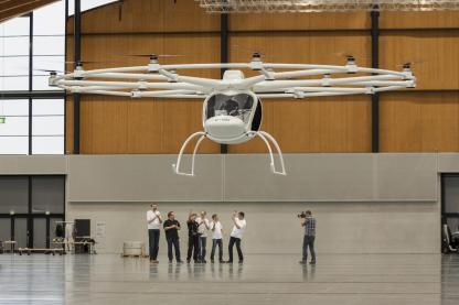 Der Jungfernflug des Volocopter