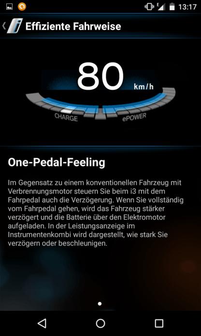 One Pedal Feeling BMW i3