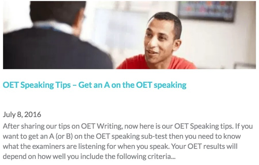 OET Speaking Tips & Strategies