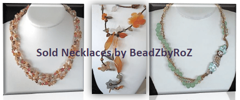 Handcrafted Beaded Sold Necklaces