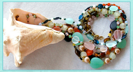 Summer Jewelry with Sea Glass