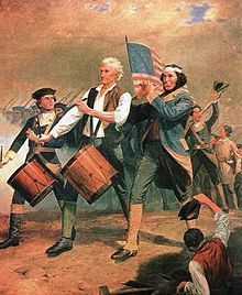 Originlly entitled Yankee Doodle, a scene painted by A.M.Willard that came to be known as The Spirit of '76.