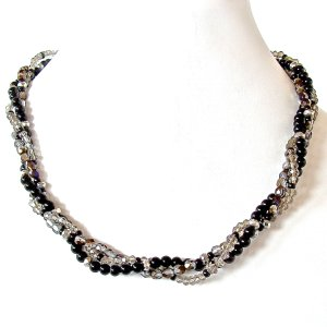 Handmade Black and Silver Necklace