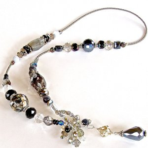 Black and White Bead Necklace