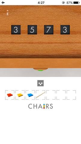 Th  脱出ゲーム 椅子 攻略 2961