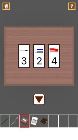 脱出ゲーム Stationery  攻略と解き方 ネタバレ注意  3044