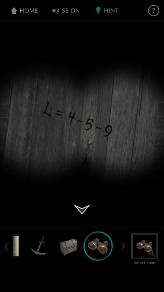 Th 脱出ゲーム The TREASURE 攻略 3654
