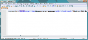 Notepad++ Minified HTML