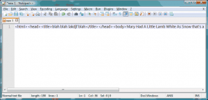 Notepad++ Better Minify HTML