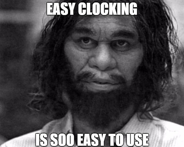 Easy Clocking Caveman