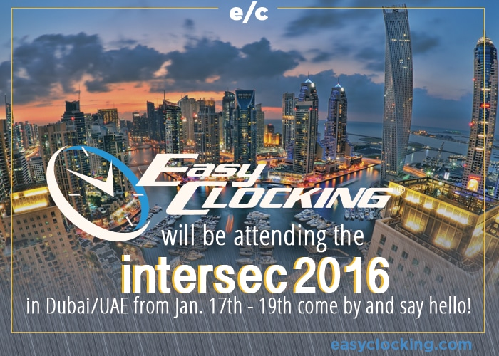 dubai intersec 2016 easy clocking