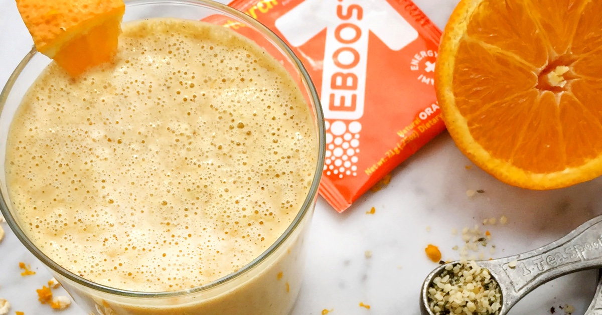 Orange Creamsicle Energy EBOOST Smoothie