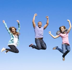 bigstock Fun Group of Young People Jump 194615991 e1347553959567 300x292 - This is the solution to not getting sick - and its easy to do