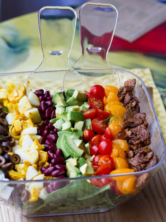 the vegan cobb salad15 - #MeatlessMonday A day full of vegan meals
