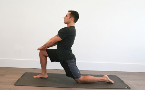 jock yoga tutorial   active lunge stretch for hip flexors 2 - 3 Stretches You Need to Start Doing Now