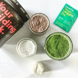 Eboost smoothies with whey protein