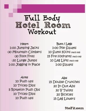 pinterest hotel workout