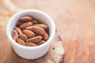 almonds in a ramekin