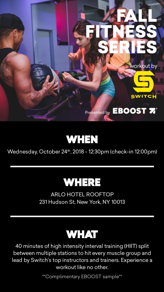 Fall Fitness Series EBOOST and SWITCH playground