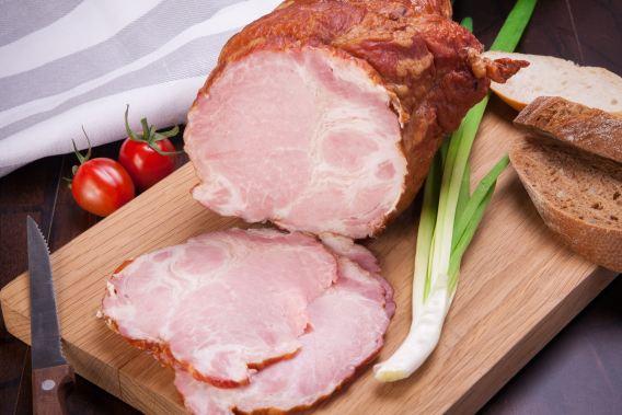 sliced up ham