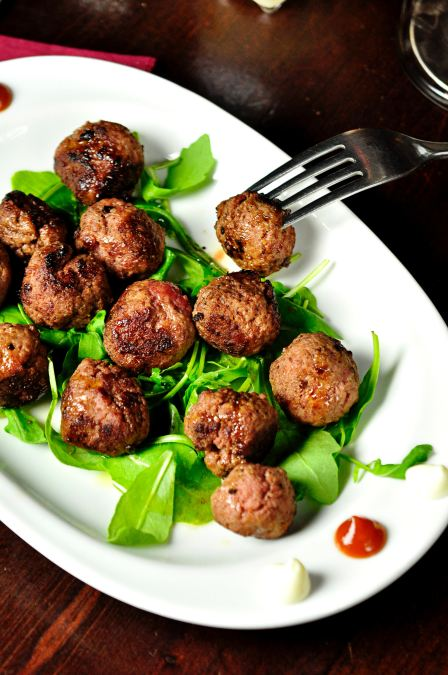 meatballs on a plate