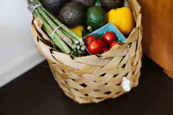 vegetables in a basket