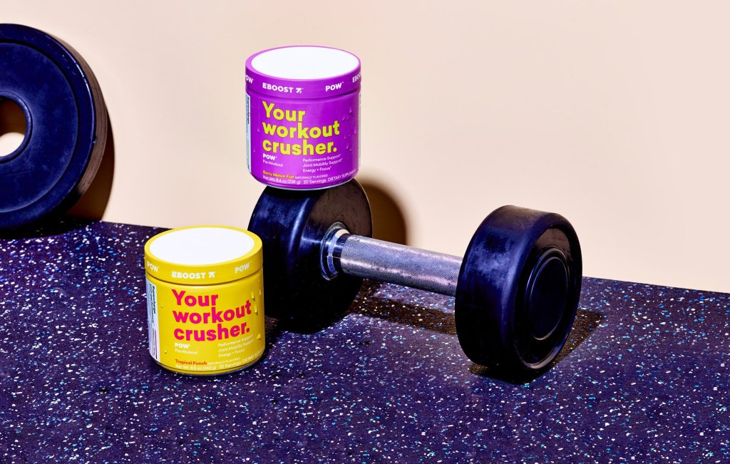 EBOOST POW with dumbbells