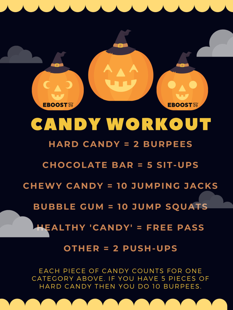 EBOOST Halloween candy workout