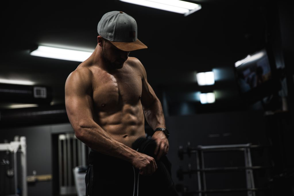 man with strong toned abs