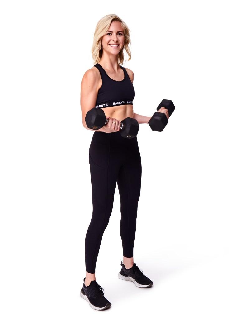 Lauren Hutchinson lifting weights