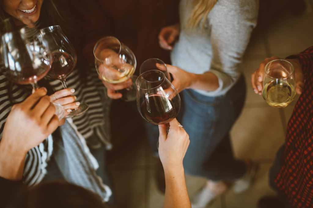 group of people consuming alcohol consciously
