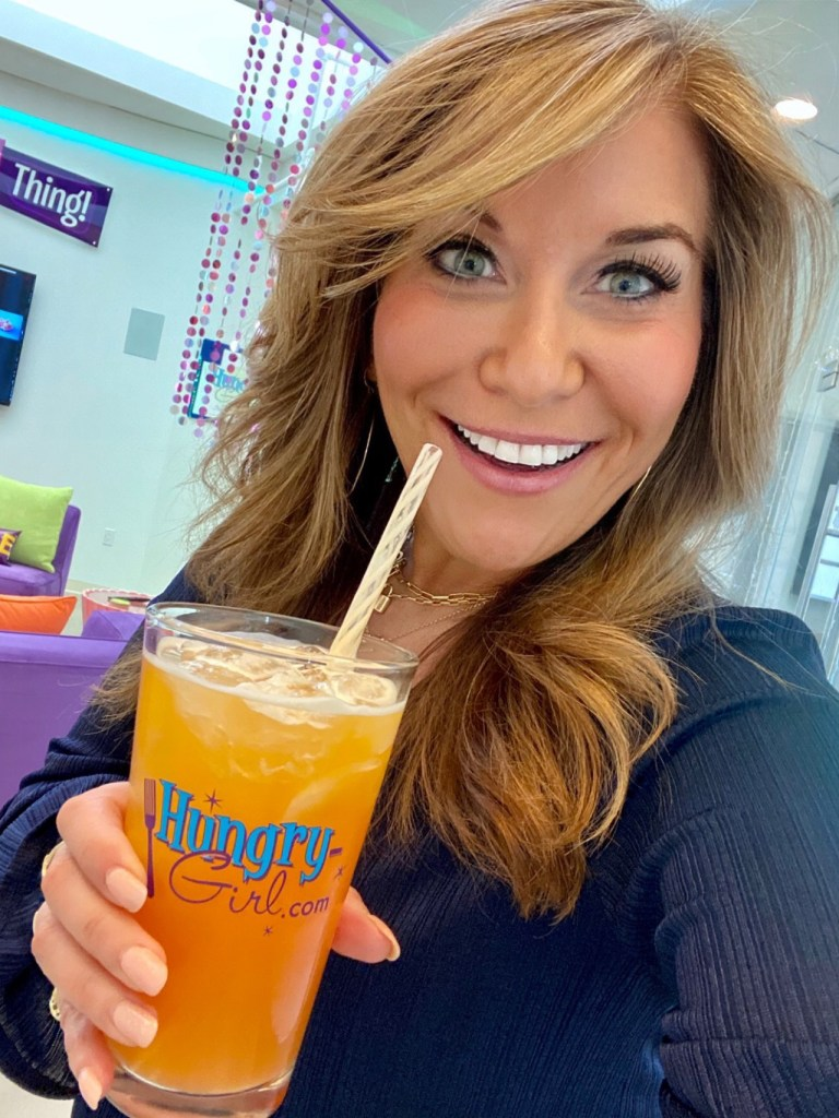 Hungry Girl drinking Your Daily Bright Boost