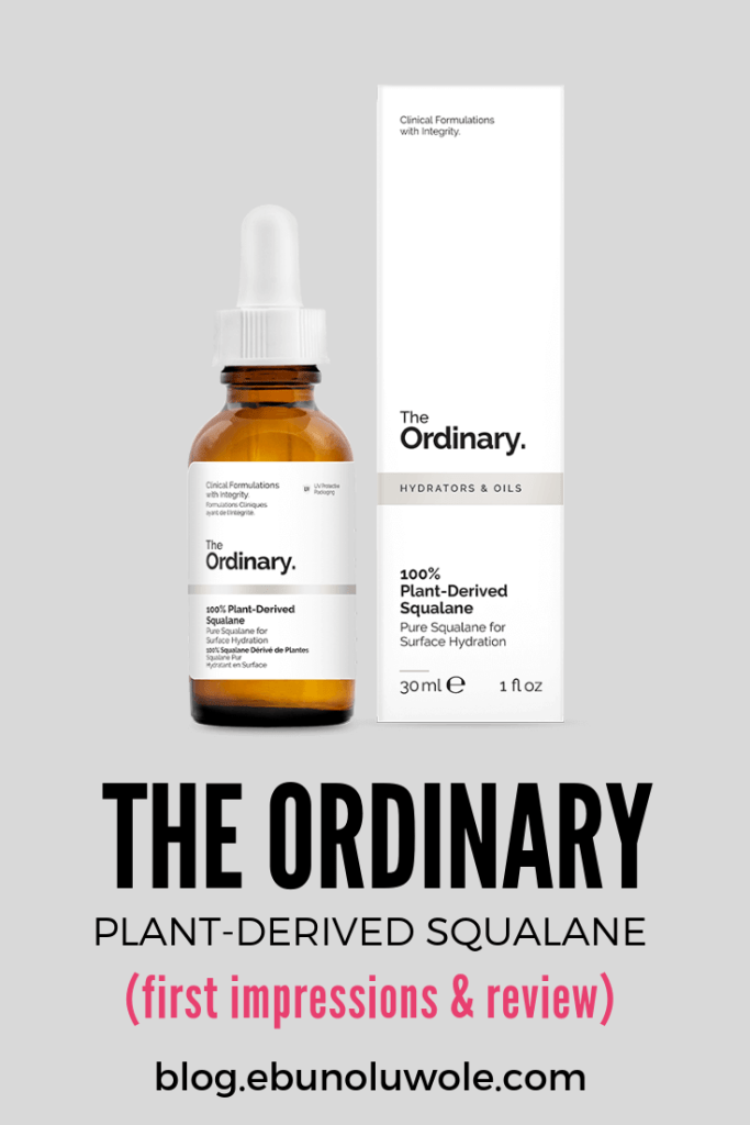 The Ordinary Plant Derived Squalane - Review